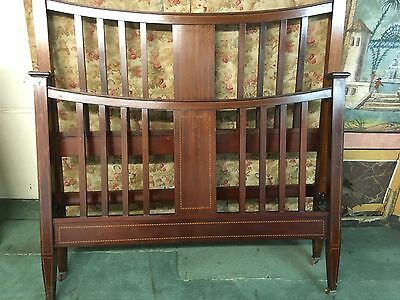 Antique Edwardian Mahogany Double Bed Frame (ref868)