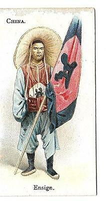 B.a.t. - Soldiers Of The World - China - Rare Card From 1902