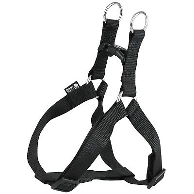 Me & My Pets Black Nylon Step In Adjustable Dog/puppy Safety Walking Harness