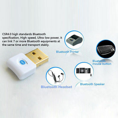 Mini Bluetooth Dongle Wireless Adapter USB 2.0  V4.0 For Laptop PC AU STOCK