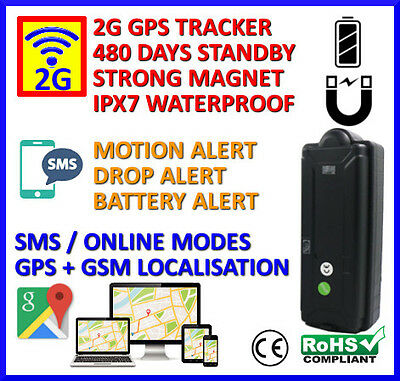 Portable Magnetic GPS Tracker Long Battery Life and Security Functions
