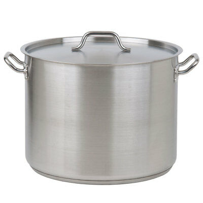 Stainless Steel Stock Pot with Lid 50L
