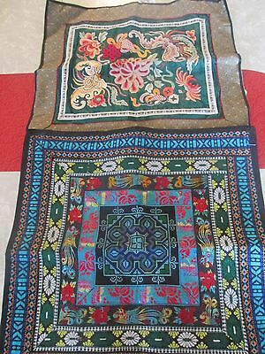 Beautiful Asian Tapestry/ Embroidery Pillow Cover and Table Scarf