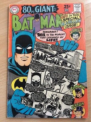 Batman #198 - 80 Pages - Silver Age - Fine Condition - Dc Comics Jan/feb 1968