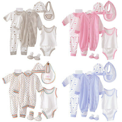 Newborn Baby Boys Girls Clothes Cotton T-shirt Tops+Pants Outfits Set Pajamas