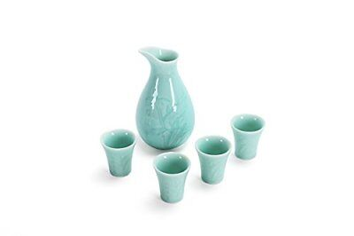 Gift Pro 5 Pcs Japanese Style Sake set Hand Painted Design Porcelain Pottery ...