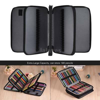 Handy PU Zippered Pencil Case For Colored Pencils - 180 Slot Pencil Holder U2P3