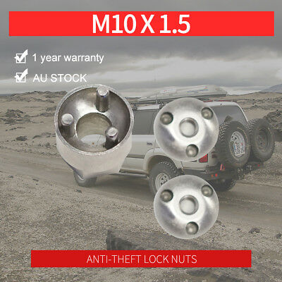 M10 Anti Theft Tamper Security Lock Nuts LED Bar Work Driving Lights 6mm 8mm 10m