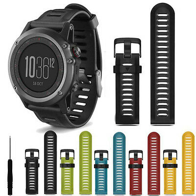 Silicone Strap Replacement Smart Watch Band + Tools For Garmin Fenix 3 GPS Watch