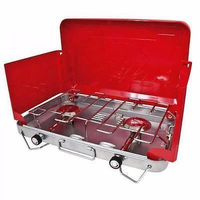 Progaz 2 burner portable LP gas stove BBQ great condition with Box - Fathers Day