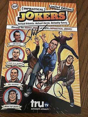IMPRACTICAL JOKERS autographed COMIC BOOK SIGNED BY ALL 4  Mint