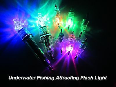 LED Underwater Fishing Attracting flashlight Fish Lamp Deep Drop Lure Light