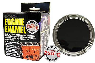 E-Tech High Heat Car Vehicle Engine Gloss Finish Enamel Paint 250ml- Black