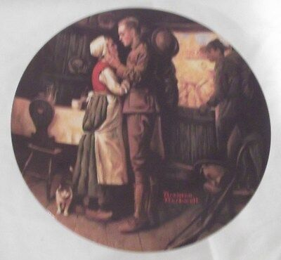 """Norman Rockwell """"Soldier's Farewell"""" Collector Plate"""