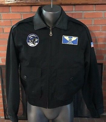 Vintage Cooper Type A-2 Flight Bomber Polyester/ Leather Jacket Size Small