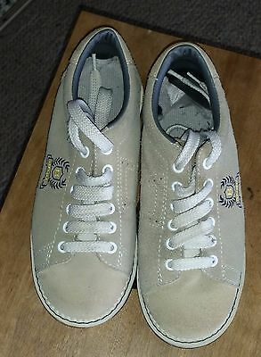 Banff by Aerobok ten pin bowling shoes size 3 US beige suede leather ex con