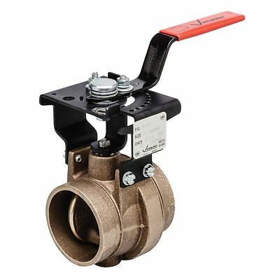 """VV024608NE2 Copper Grooved Butterfly Valve With Lock Lever Handle 608N, 2-1/2"""""""
