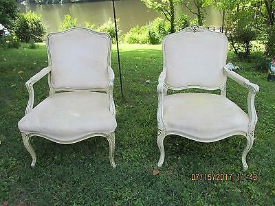 2 Queen Anne chairs upholstered