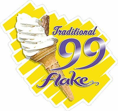 99 Flake Sticker, TRADITIONAL, Ice Cream Van, Shop, Cafe, Restaurant, Catering