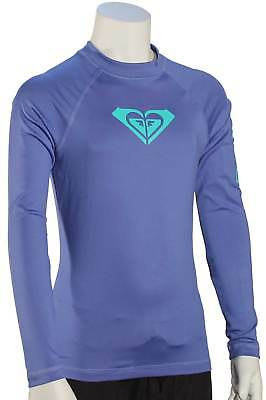 Roxy Girl's Whole Hearted LS Rash Guard - Chambray - New