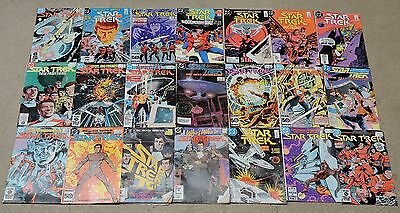 Collection of 21 Vintage Star Trek Comic Books - 1984-1988