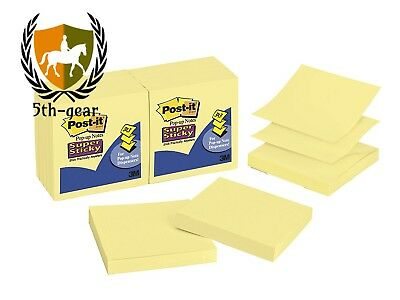 Post-it Super Sticky Pop-up Notes, 3 x 3-Inches, Canary Yellow, 12-Pads/Pack