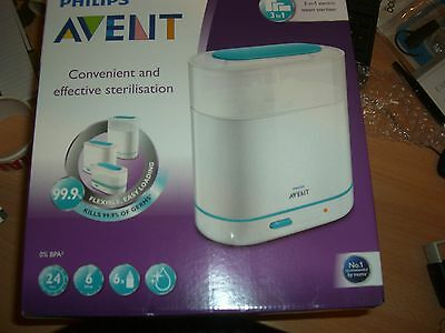 Philips AVENT 3-n-1 Electric SCF284/01 Steam Sterilisier Baby Bottle new boxed