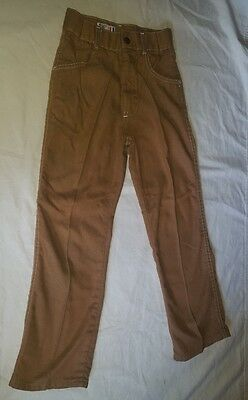 "Vtg Kids ""Billy the Kid"" Permanent Press Brown Pants, Excellent Sz 9"