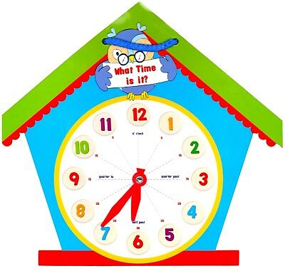 LEARN TO TELL THE TIME - Clock Shaped Children's Educational Learning - WH3 -068