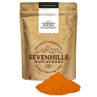 Sevenhills Wholefoods Organic Raw Turmeric Powder | Digestion, Blood Pressure