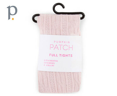 Pumpkin Patch Girls' Cable Knit Tights - Lotus Pink