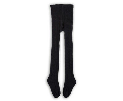 Pumpkin Patch Girls' Cable Knit Tights - Black