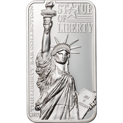 Cook Islands 2017 $10 Statue of Liberty 2oz Silver Proof Coin