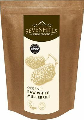 Sevenhills Wholefoods Organic Raw White Mulberries | Super Berries, Digestion