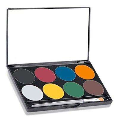 Mehron Paradise AQ Face & Body Paint 8 Color Palette, BASIC - FREE SHIPPING!