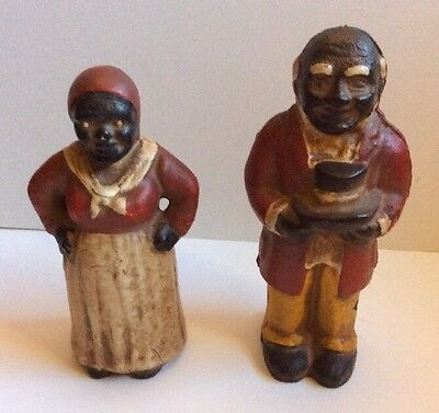 Black Americana Collectibles Aunt Jemima & Uncle Moses Cast Iron Banks