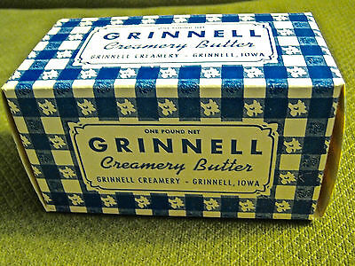 Vintage Grinnell Creamery Butter Box Unused