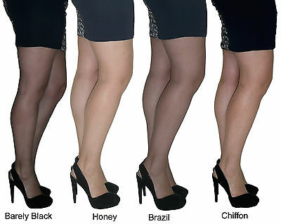 2 paires essexee legs 15 deniers Collants tailles large-xxl 100% nylon 4