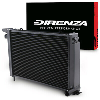 Direnza Black High Flow Radiator For Ford Escort Rs 1.6 Turbo Series 2 86-90