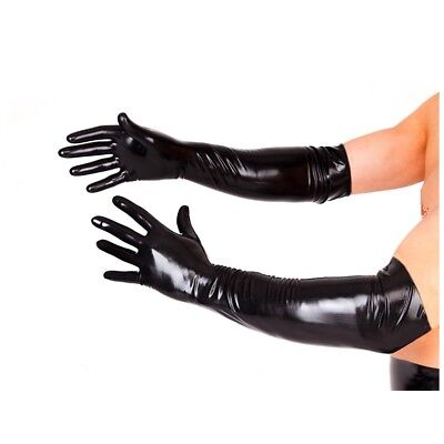 Adult Long Black Latex Gloves Fetish Fisting Dominatrix Cosplay Roleplay Master