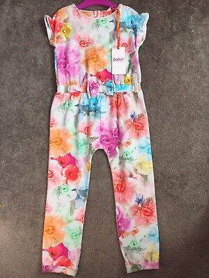 Girls Ted Baker Jumpsuit 3-4 Brand New With Tags Floral