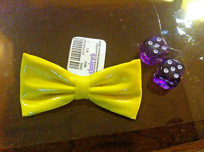 Claire's Claires Accessories Official Head Hair Clip Yellow Patent Bow £2.50 RRP
