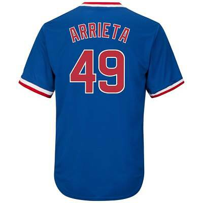 Majestic Jake Arrieta #49 Chicago Cubs Cool Base MLB Trikot COOPERSTOWN