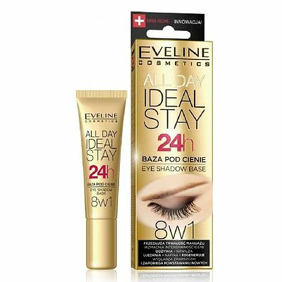 Eveline ALL DAY IDEAL STAY 24h EYE SHADOW BASE  8in1 LONG LASTING 12ml