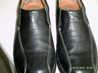 Clarks Unstructured Mens Shoes Size 12M   Black Leather Nice!