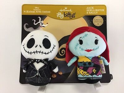 Hallmark Itty Bittys-Jack Skellington & Sally-Nb Xmas -New Release-Free Ship!