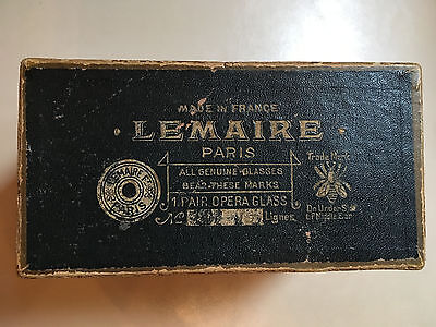 Lemaire and Colmont Fab Paris Opera Glasses With a Case