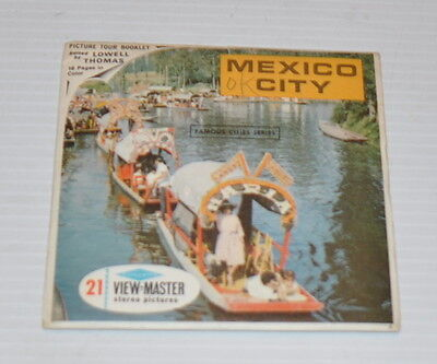 - MEXICO CITY Famous City Series VIEW-MASTER Reels with Packet-