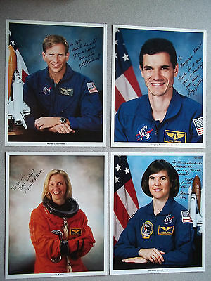 STS-83 Complete Set of 8X10 Autographed Crew Singles - 3 Tough signers