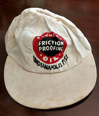 Vintage Wynn's Friction Proofing Oil Cap Hat - Indianapolis 500 1951 - Very Cool